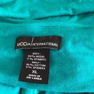 Moda International Tops - Green embellished halter top